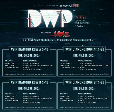 DWP 2016 VVIP Table / Tickets for Saturday (2nd Day)