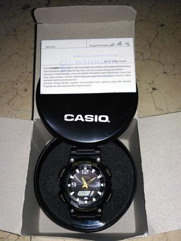 JAM CASIO TOUGH SOLAR AQ-S810W HITAM
