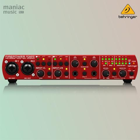 Behringer FCA610 (Soundcard Recording, Firewire & USB, 6 In / 10 Out)