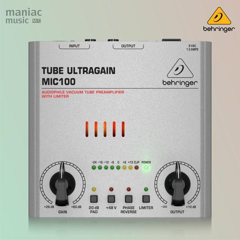 Behringer MIC100 (Audiophile Tube Preamplifier, Phantom Power, Compact Size)