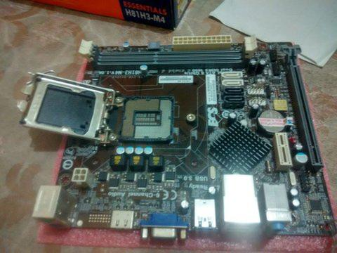 Motherboard ECS H81H3-M4 for Intel LGA1150 DDR3 support up to core i7