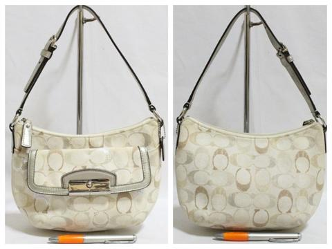 Tas branded COACH C286 Small glitter hobo second bekas original asli 70273a458e