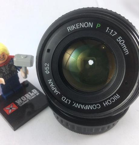 Lensa Manual / Manual Lens / 50mm / 50 Mm F1.7 Ricoh Rikenon P Mount PK Mint !