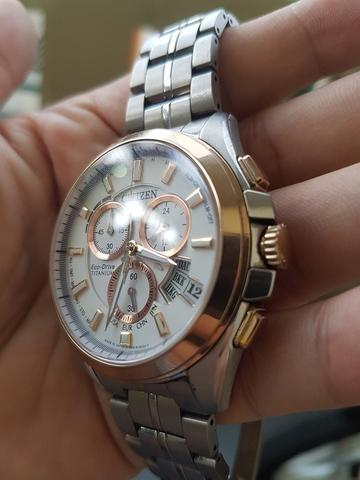 Citizen Eco Drive Titanium Perpetual Date Rose Gold