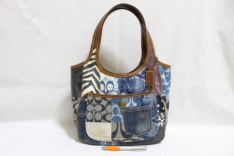 Tas branded COACH C291 Erdo hobo Mix patches second bekas original asli a342813019
