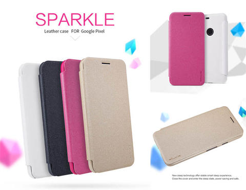 Aksesoris Nillkin Sparkle Leather Case Google Pixel Flip Cover