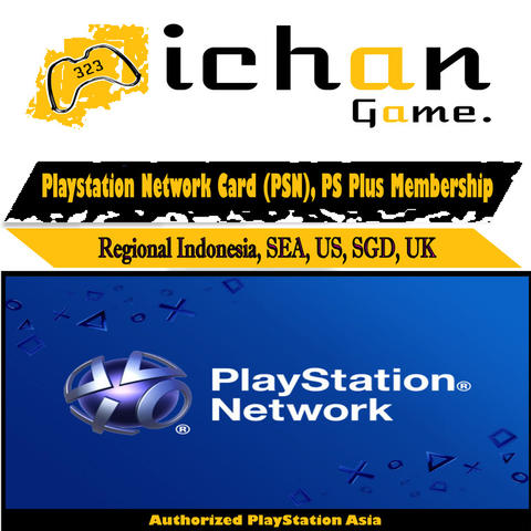 PlayStation Network Card Indonesia, US (PSN), PSN Indonesia, PSN US, PSN SG, PS Plus