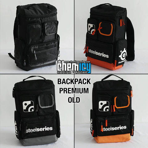 [Chemicy] Backpack Premium Old : Steelseries Orange / Grey / Blackout
