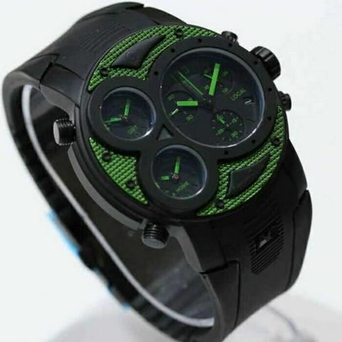 HARGUMS JAM TANGAN ALEXANDRE CHRISTIE AC6324 BLACK GREEN ORIGINAL