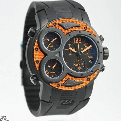 HARGUMS JAM TANGAN ALEXANDRE CHRISTIE AC6324 BLACK ORANGE ORIGINAL