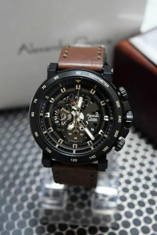 HARGUMS JAM TANGAN ALEXANDRE CHRISTIE AC6429 DARK BROWN BLACK ORIGINAL