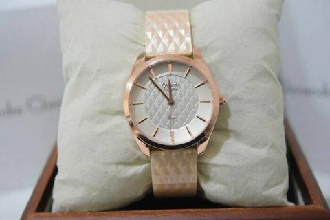 HARGUMS JAM TANGAN ALEXANDRE CHRISTIE AC2570 CREAM ORIGINAL