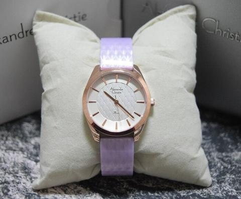 HARGUMS JAM TANGAN ALEXANDRE CHRISTIE AC2570 PURPLE ORIGINAL