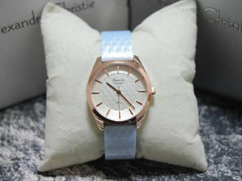 HARGUMS JAM TANGAN ALEXANDRE CHRISTIE AC2570 LIGHT BLUE ORIGINAL