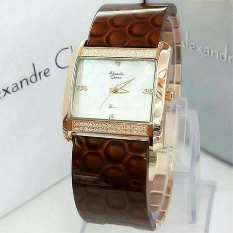 HARGUMS JAM TANGAN ALEXANDRE CHRISTIE AC2526 BROWN ORIGINAL
