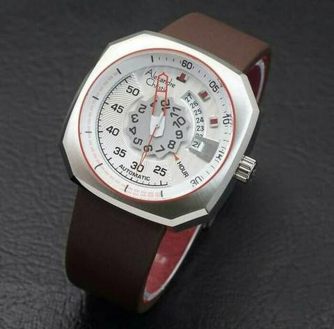 HARGUMS JAM TANGAN ALEXANDRE CHRISTIE AC3032 DARK BROWN SILVER ORIGINAL