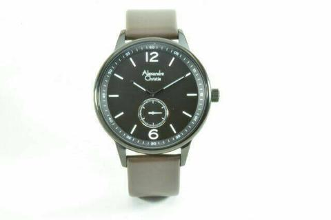HARGUMS JAM TANGAN ALEXANDRE CHRISTIE AC8466 DARK BROWN BLACK ORIGINAL