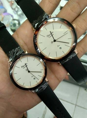 HARGUMS JAM TANGAN ALEXANDRE CHRISTIE COUPLE AC2555 BLACK ROSEGOLD ORIGINAL
