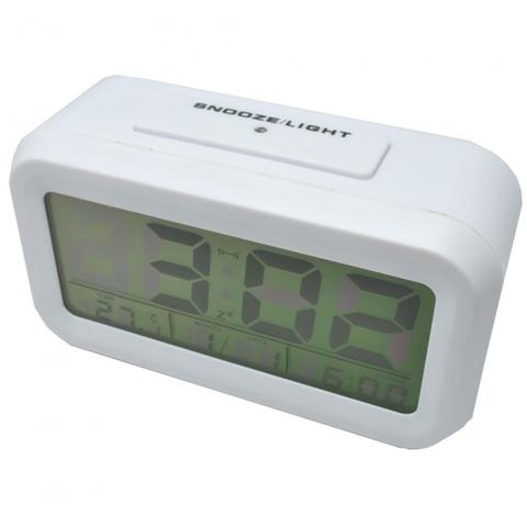 HARGUMS Jam Meja Digital Smart Clock (Alarm, suhu, kalender, LED Light)