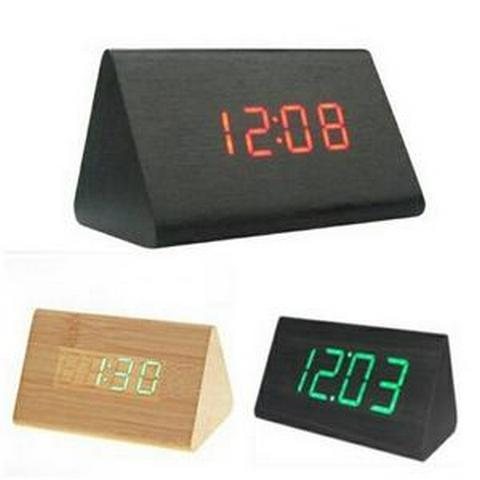 HARGUMS LED Digital Wood Clock - JK-828