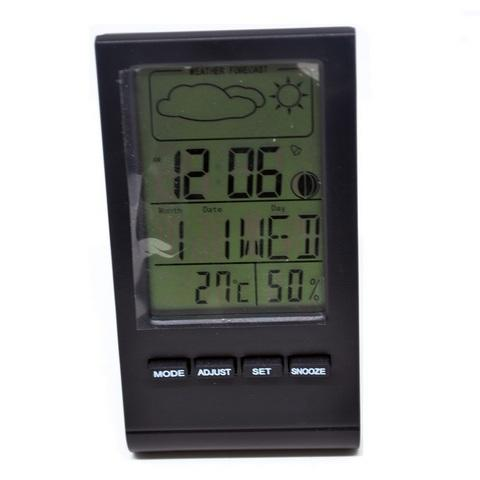 HARGUMS Digital Thermometer and Hygrometer with Clock Alarm, Date, Calendar