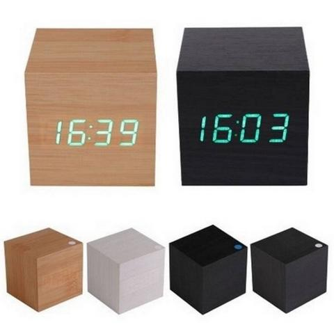 HARGUMS LED Digital Wood Clock - JK-808