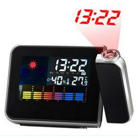 HARGUMS Digital LED Light Weather Projector Clock - JK-393