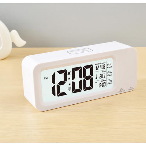 HARGUMS Smart Timepiece Jam Meja Pintar (Suhu Backlight Alarm Clock) JP9908