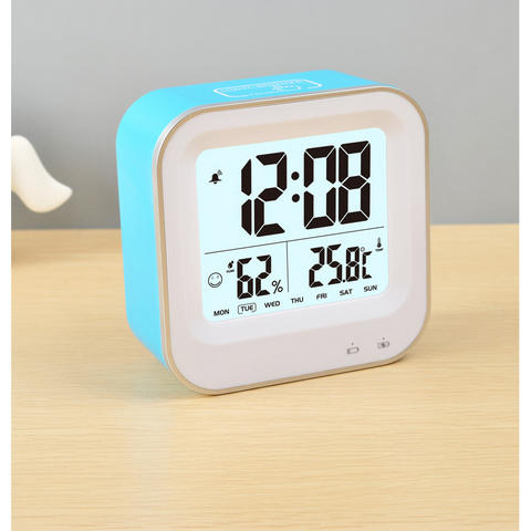 Jam Meja Digital Pintar Thermometer Hygrometer with Alarm