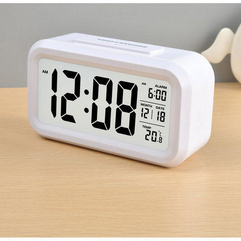 Jam Alarm Meja Smart Timepiece Alarm Clock with LED JP9901-2