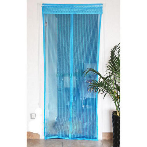 Flies Magnetic Stripe Soft Screen Curtain Door / Pintu Magnet