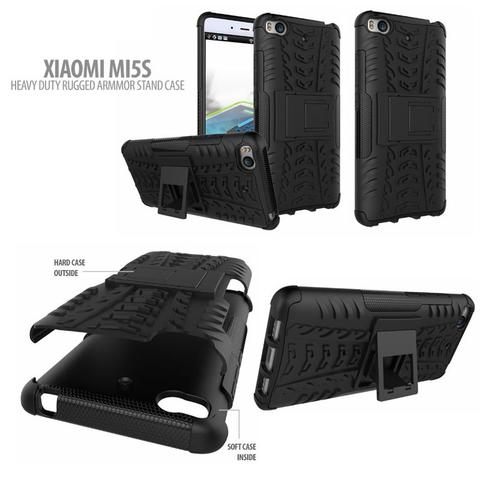 Aksesoris Xiaomi Mi5s - Heavy Duty Rugged Armor Stand Case