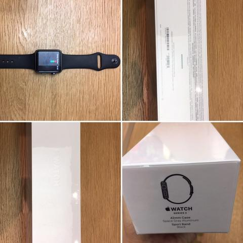 Apple Watch Series 2 42mm space gray aluminium black sport BNIB