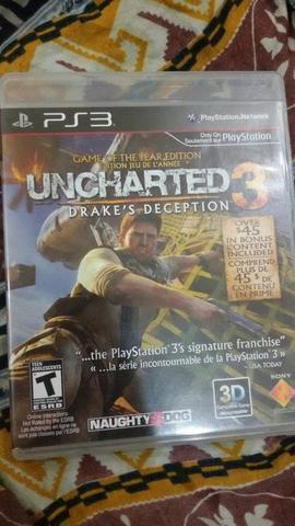 bd bluray ps3 ps3 Uncharted 3 Game Of The Year (game original bluray)