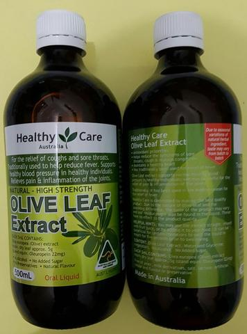 Healthy Care Olive Leaf Extract Liquid Daun Zaitun 500 mL