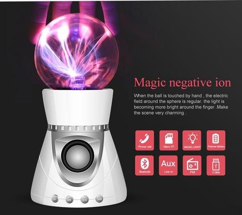 Magic Mini Plasma Ball Light Flash Music Speaker Portable