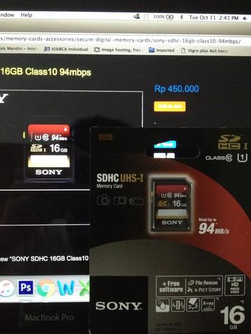 MEMORY CARD SONY 16GB SDHC CLASS 10 UHS-1