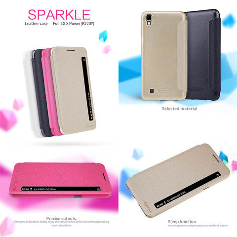Nillkin Sparkle Leather Case LG X Power