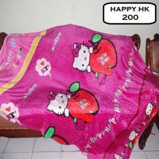 SELIMUT BULU HALUS KARAKTER HELLO KITTY HAPPY 150x200 KS-IS085