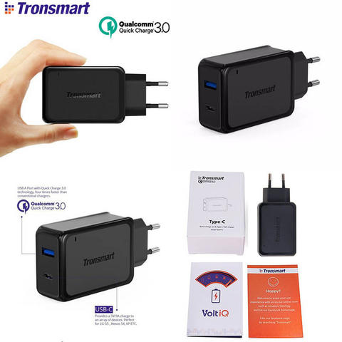 Tronsmart Quick Charge 3.0 33W Dual Port Charger W2PTU (Qualcomm Certified)