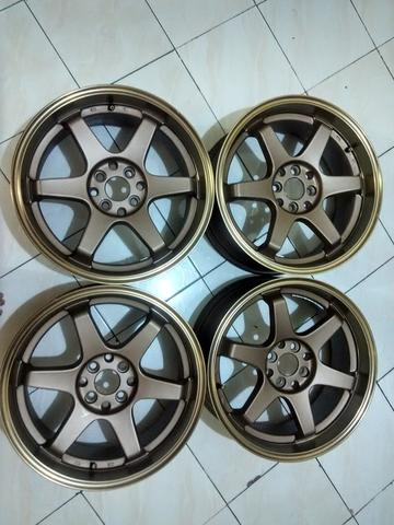 velg r17 TE37 brown ring 17