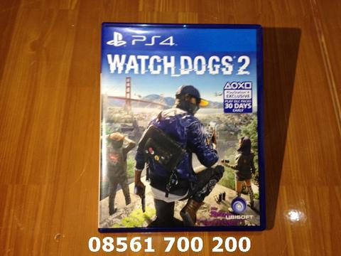 WATCH DOGS 2 II / WATCHDOGS DOG PS4 | Bluray / BD Kaset Game Playstation PS 4 Mulus