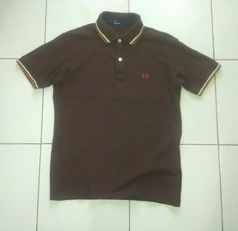 Terjual Fredperry fred perry polo shirt twin tipped size S  74987d994c