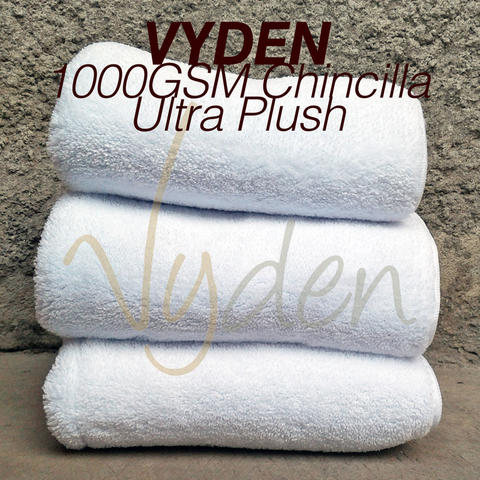 1000 GSM Vyden Chincilla Ultra Plush Microfiber 2 sides long Hair 40 x 40cm