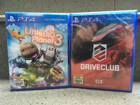 BD PS4 New Segel Reg 3 Driveclub & LittleBigPlanet 3