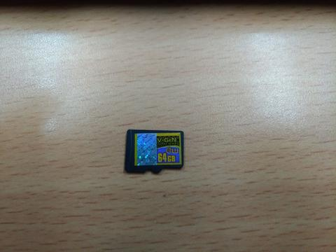 Memory Card Micro SD V-Gen Turbo 64gb Class 10 No Adapter