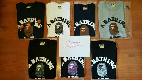 A Bathing Ape (Bape) T-Shirts 100% Authentic from Bape store Japan