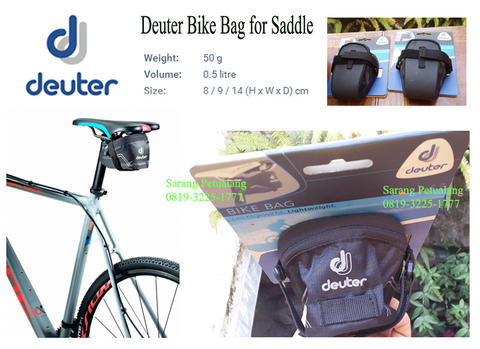 Deuter Bike Bag S - Saddle Bag Race 2 - Tas Duduk Jok Sadel Pack Sepeda