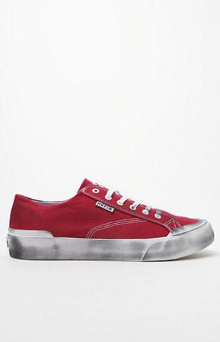 HUF Classic Lo Red Canvas Skateboarding Shoe VCPS005 Men's Size 8.5