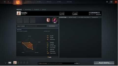 ID Dota 2 MMR 5172 ! Party 5404 ! ADD ON + INVENT ! MURAH!